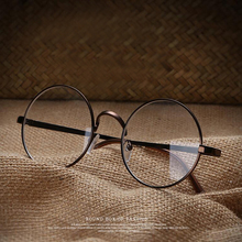 "Unisex Clear Transparent Circle Round Glasses ""Nerd"" Glasses Mens Womens(China)"