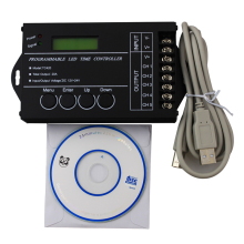 20pcs/pack DC12-24V 20A 5 channel Time programmable led controller,  led timing dimmer, led pc USB interface controller