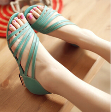 2015 new women sandals size 35-43 in the summer with sandals fish head shoes hollow shoes mom shoes B188