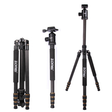 ZOMEi Z688C Lightweight Travel Carbon Fiber Tripod for All Canon Sony Nikon Samsung Panasonic Olympus Kodak Fuji DSLR Camera(China)