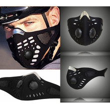 New Black Half Face Mask Motorcycle Ski Anti-pollution Mask Outdoor Sports Mouth-muffle Dustproof Bicycle Neoprene Mask Filter