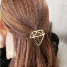 Women Hair Jewelry Trendy Silver &Gold Hair Bridal Accessorie Geometry Shaped Hairpins Metal Elegant Hair Ornaments Hair clip