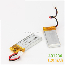 3.7V 041230 401230 120mah lithium polymer battery for Bluetooth headset BT2010/BT135 Jabra Bluetooth headset battery(China)