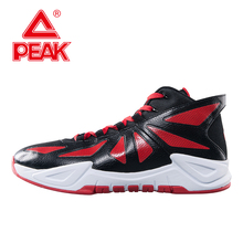 PEAK SPORT Ares Men Basketball Shoes Authent Breathable Cushioning High-Top Competitions Ankle Boots Athletic Training Sneaker