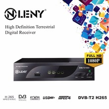 DVB-T2 H.265 Full HD 1080P High Definition Digital Terrestrial Receiver USB2.0 Port with PVR Function and External HDD Black EU