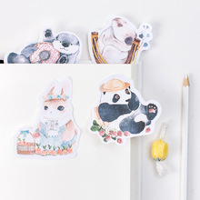 30pages/pc Cute Animals Kawaii Post Sticky Memos Memo Pad Planner Stickers Scrapbooking Diary - Look Here- More Suprise store