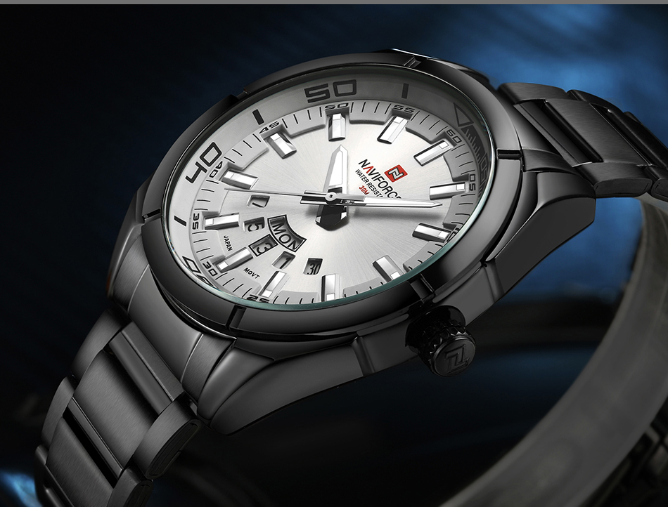 2017 NAVIFORCE Nouveau Top Marque Hommes de Montres Hommes En Acier Plein Imperméable Casual Quartz Date Horloge Mâle montre-Bracelet relogio masculino 11