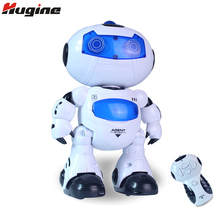 RC Smart Robot Remote Control Toys Intelligent Walking Space Robot with Music & Light Hobby Birthday Gift for Kids
