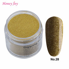 28g/Box #28 Golden Color Glitter Easy-To-Use Dip Powder Nails Dipping Nails Long-lasting Nails No UV Light Needed Safe Odorless(China)