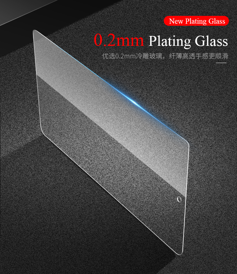 Universal 9H Tempered Glass For iPad 2018 2017 9.7 The 5th 6th Generation For Ipad Air 1 Air 2 Pro 9.7 Protector Guard Film