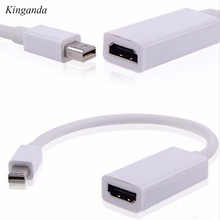 Mini Displayport to HDMI Adapter Thunderbolt DP Cable Converter Full HD 1080P For MacBook Pro Air Mac For PowerBook Adaptor 20CM(China)