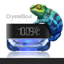 2016 NEW Multifunction LED music alarm clock With Bluetooth small audio radio child bedroom bedside Luminous clock(China)