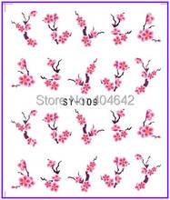 30 PACKS / LOT Nail Art Water Transfers Stickers Nail Decals Stickers Water Decal Plum Blossom  Wintersweet