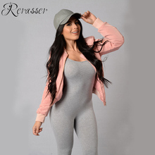 Rerasser Fitness Jumpsuit Casual Sporting Jumpsuit Women Sexy Spaghetti Strap Backless Jumpsuits Long Bodycon Overalls