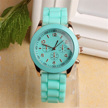 Superior GENEVA Unisex Silicone Rubber Jelly Gel Quartz Analog Sports Women Wrist Watch relogio feminino Sep 21 Hot Dropship