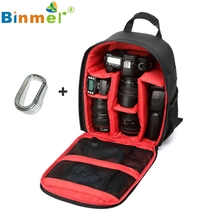 Binmer Nice Red  1PC Camera Bag Backpack Waterproof DSLR Case with Carabiner for Canon Oct 13