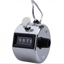 Metal 0 to 9999 4 Digit Numero Tally Manual Counter Mini Esporte Lap Golf Handheld Manual  Instrumentation
