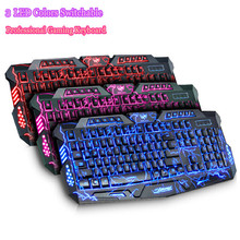 Original Brand 3 Colors Switchable Backlight Keyboard USB Wired Professional Computer Laptop Gamer Keyboard For Gaming Dota2 LOL