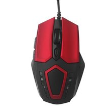 PROMOTION! Hot Sale Adjustable 2400 DPI 6D Optical Gaming Mouse USB Wired LED Game Mice for Computer Peripherals Red & Black(China)