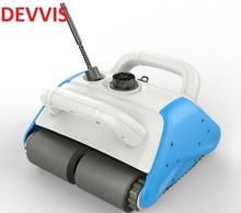 Newest Robot Vacuum Cleaner For Swimming Pool Cleaner With Newest Floating Recharged Battery,15m Cable(China)