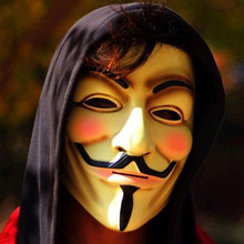 New The V for Vendetta Party Cosplay Masque Mask Anonymous Guy Fawkes Fancy Dress Adult Costume Accessory Mascara For Halloween
