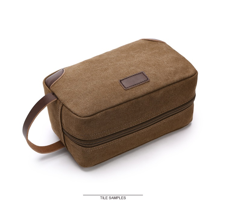Canvas Travel Bag Toiletry Organizer Shaving Dopp Kit Travel Cosmetic Bag Makeup Men Handbag Casual Zipper Wash Cases Women 11