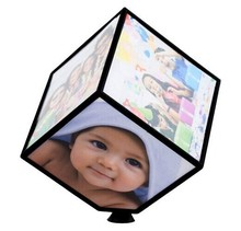 PHOTOCUBE REVOLVING PICTURE PHOTO FRAME CUBE MULTIPLE PICTURE FRAME