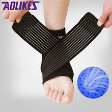 AOLIKES 1PCS Neoprene Strengthen Protection Enwind Ankle Support Brace Wrap Elastic Breathable Ankle Support Guard Strap Belt