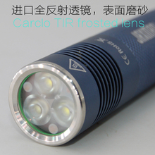 JAXMAN E2L 3LED TIR frosted LENS flashlight 18650 torch CREE XPG2 more smooth and flood(China)