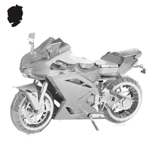 MOTORCYCLE II Classic collection 3D puzzle Metal assembly model Intelligence toys DIY Creative imagination 9 inc 2 sheets