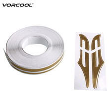 12mm PinStripe Pin Stripe Tape Decal Vinyl Car Stickers Steamline White Gold Silver Double Line Motorcycle Styling Accessory