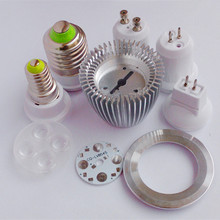 DIY led spotlight bulb 3W 4W 5W 7W GU10 GU5.3 MR16 E27 led spot light lamp cup radiato shell heat sink led light accessories(China)