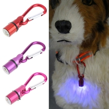 1Pc Cool Glowing LED Collar Tag for Dog Cat Pet Aluminum Waterproof Safety Tag Pendant Pet Supplies 5 Colors C42(China)