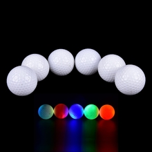 JETTING Hot  Night Golfing Gift Colorful Light-up Color Flashing Glowing LED Electronic Golf Ball