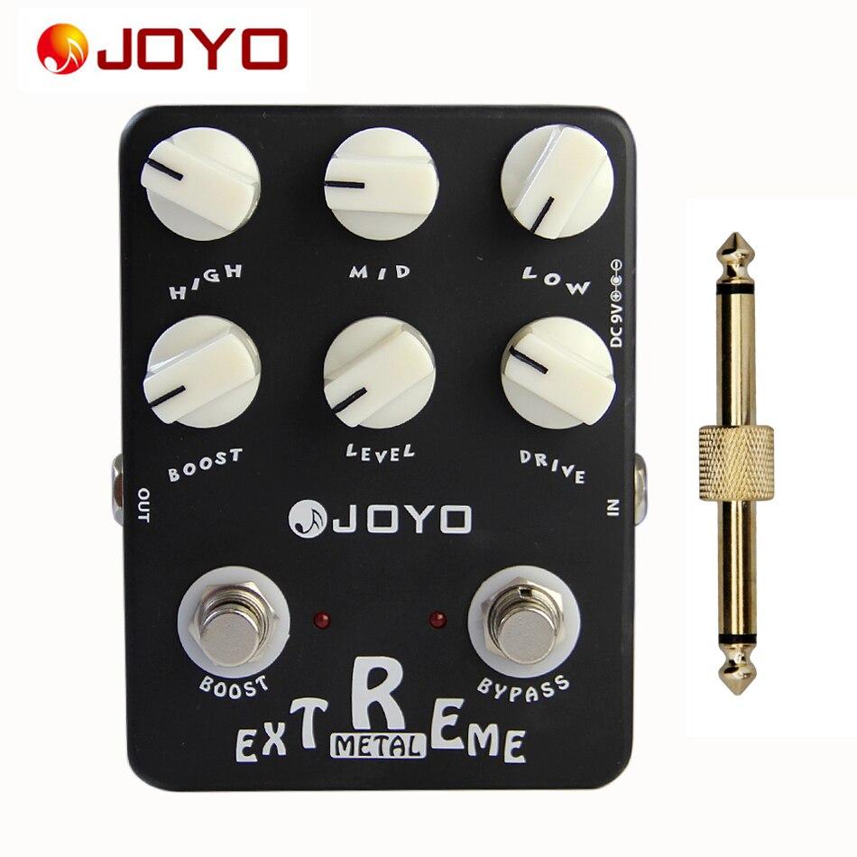 JOYO JF-17 Extreme Metal Sound Box Guitar Effect Pedal +1 pc pedal connector guitar effect pedal<br>