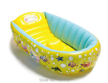 Baby Bathtub 0-3 Year Portable Inflatable Kids Bathtub Thickening Folding Children Washbowl Children Tub Baby Swimming Pool(China)