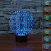 Novelty 3D Optical Illusion Night Light Electronic LED Lighting Home Table Lamp Desk Nightlight for Bedroom Holiday Gift NEWEST(China)