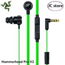Hot Razer Hammerhead Pro V2 headphone gaming headsets for LOL DOTA2 CF stereo earphone bass and other large games