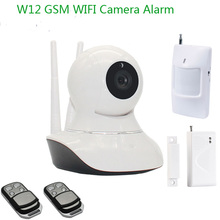 3G+SMS Alarm WiFi Camera Alarm With GSM Camera Wireless IP Camera 433MHz Alarm Door Sensor PIR Motion Detector Control W12A