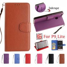 PU Leather Leathe Flip Filp Book Wallet Stand Wallt Phone Case Cover Cove Bag For Huawei Huawey Hauwei P9 P 9 Lite P9Lite Brown