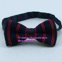 Navy,red Striped Butterfly/bowties,brand New Mens Knitted Polyester Pre-tie Adjustable Fashion Bow Ties,z14,cheap Price