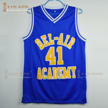 TIM VAN STEENBERGEB The Fresh Prince of Bel-Air Will Smith Bel-Air Academy #41 Blue Basketball Jersey Stitched Sewn-Blue
