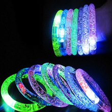 1Pcs Random Color Christmas Party Concert Supplies Fluorescent Bracelets Glow Sticks Wedding Party Decoration Night Light Sticks(China)