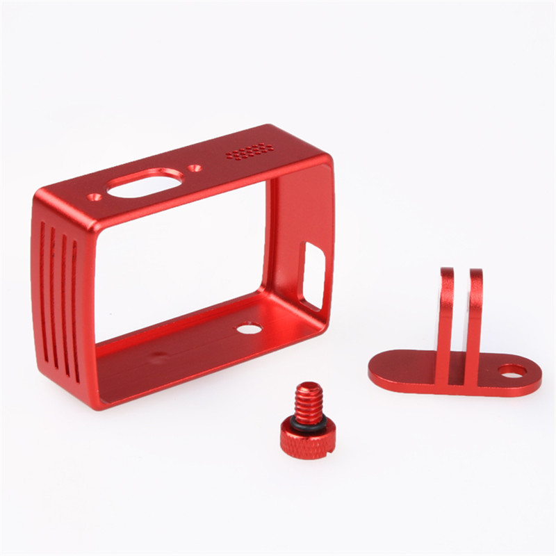 Action Camera Accessories Protective Aluminum Frame For Xiaomi Yi 4K Camera Case Cover w/Mount Adapter For Xiaoyi 2 II 4K