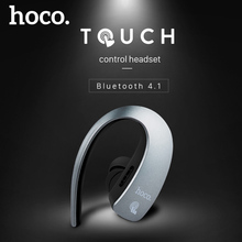 HOCO Original Touch Control Business Bluetooth Earphone Mini In-ear Wireless Headphone Driver Sport headset for iPhone Android(China)