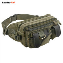 Small Fashion Multifunction Vintage Canvas Waist Bag Fanny Pack for Men and Women Hip Purse Belt Bag Black/Khaia/Army Green 001