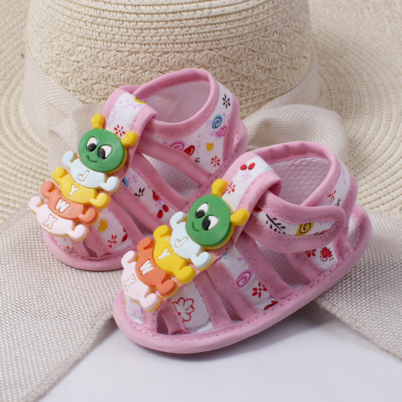 Hot Summer Baby Girl Shoes Cartoon Caterpillar Soft Sole Infant Toddler Boy Crib Shoes<br><br>Aliexpress