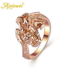 Ajojewel Brand Animal Jewelry Personality Gold-color Dragon Rings For Women And Men