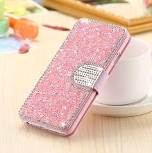 Buy Luxury Full Body Bling Diamond Flip Leather Wallet Case iPhone 8 7 6 6s Plus Silk Pattern Card Slot Stand Holder Cover for $3.89 in AliExpress store