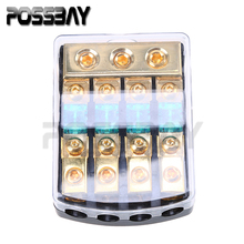 30A/60A/80A/100A/150A Car Audio Power Block Fuse Holder Fuseholder Safety Fuse Box 1 In 4 Ways Out Universal Fit for VW/Audi